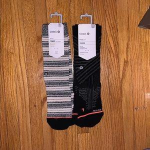 NWT 2-PACK STANCE CREW SOCKS — TOMBOY & TRAINING